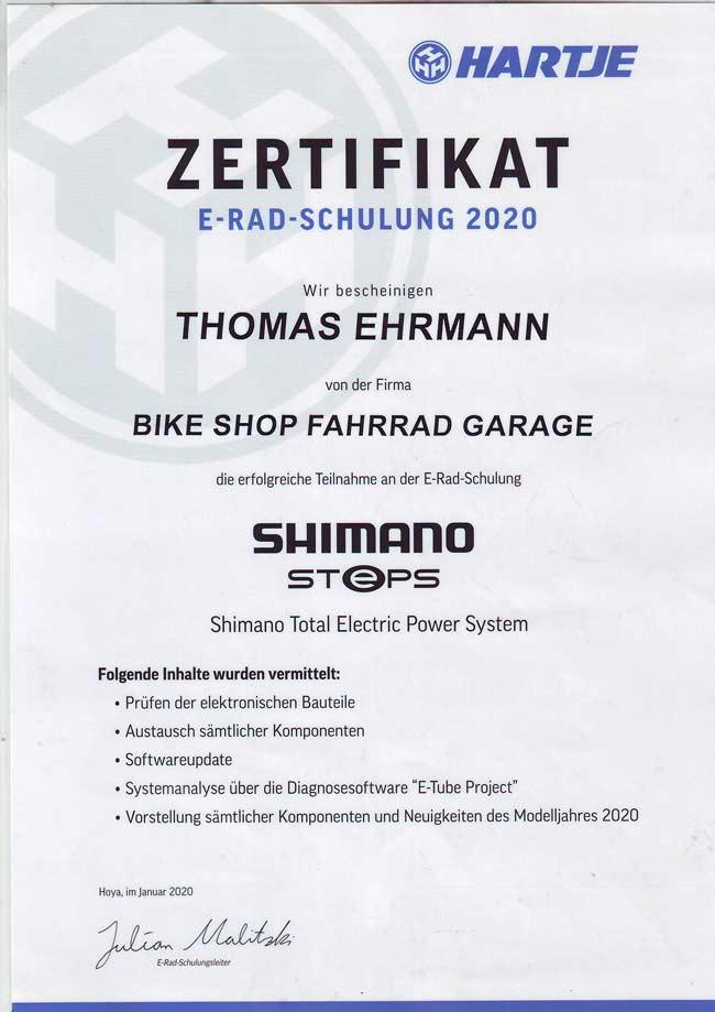E-Rad Schulung Shimano Steps, Thomas Ehrmann, 2020